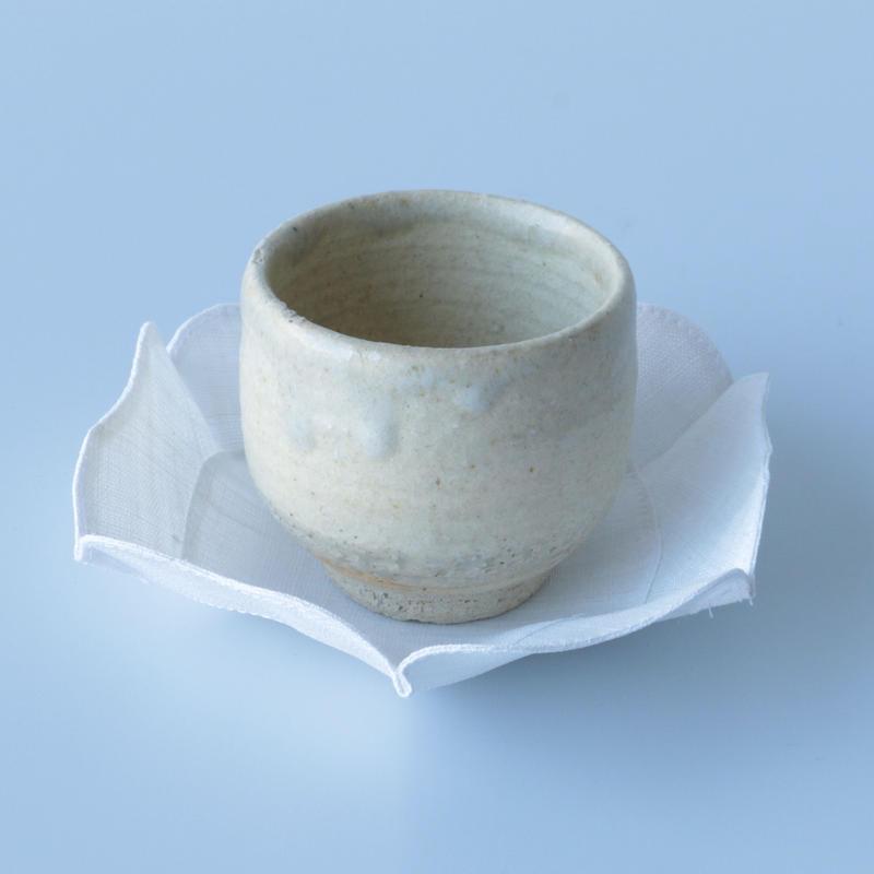 石井すみ子/根来形輪花布皿(白)