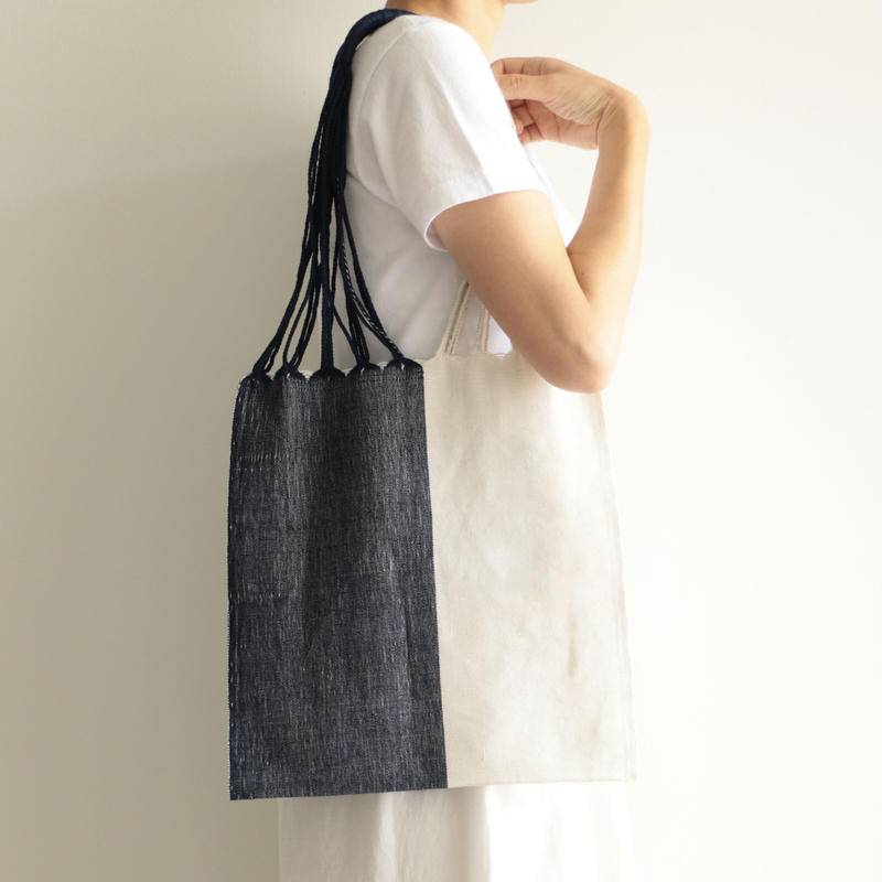 pips /HAMMOCK BAG (WHITE×BLUE)