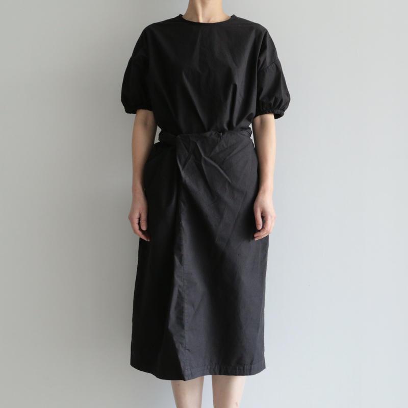 COSMIC WONDER /Organic cotton wrapped dress(lady's /BLACK)