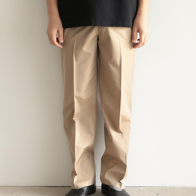 AURALEE / FINX POLYESTER SLACKS(men's/BEIGE CHAMBRAY)