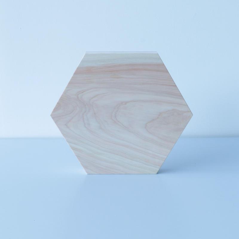 石井すみ子/六角まな板(檜)