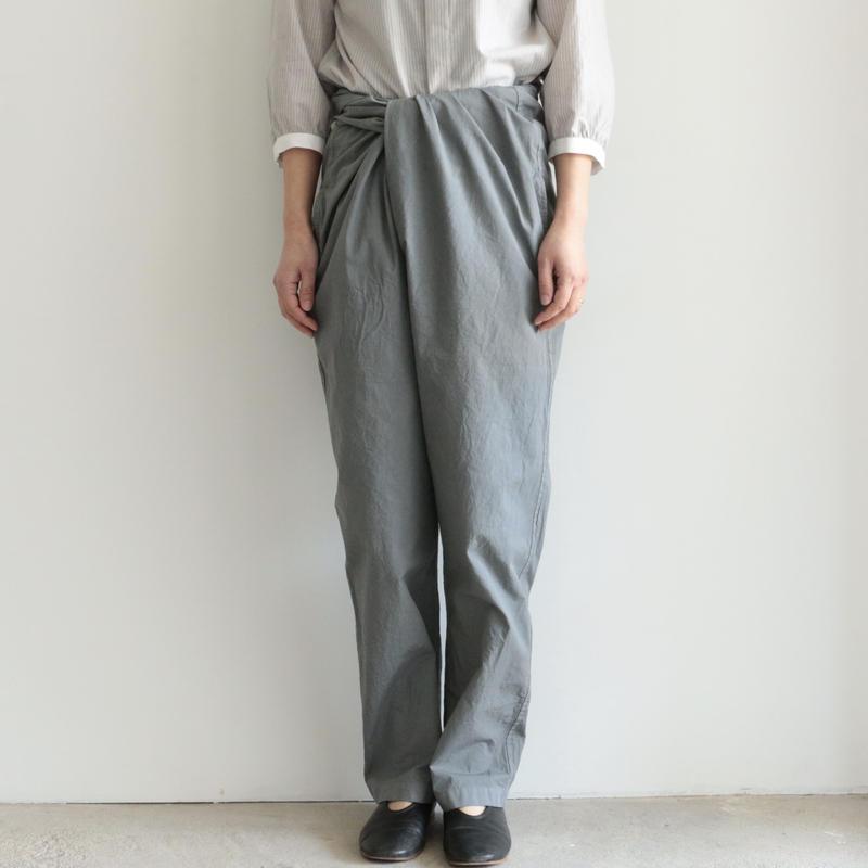 COSMIC WONDER /Organic cotton wrapped pants(lady's .men's/GRAY MOON)