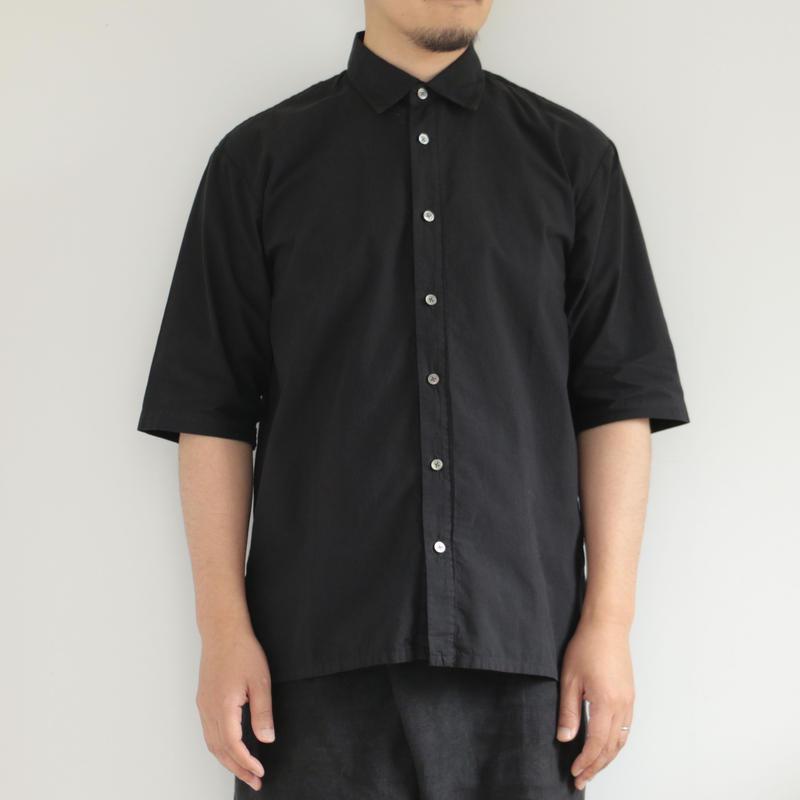 COSMIC WONDER /Organic cotton shirt with scarf(men's /BLACK)