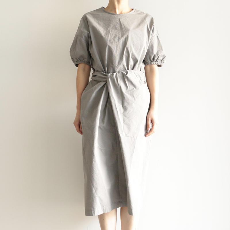 COSMIC WONDER /Organic cotton wrapped dress(lady's /GRAY MOON)