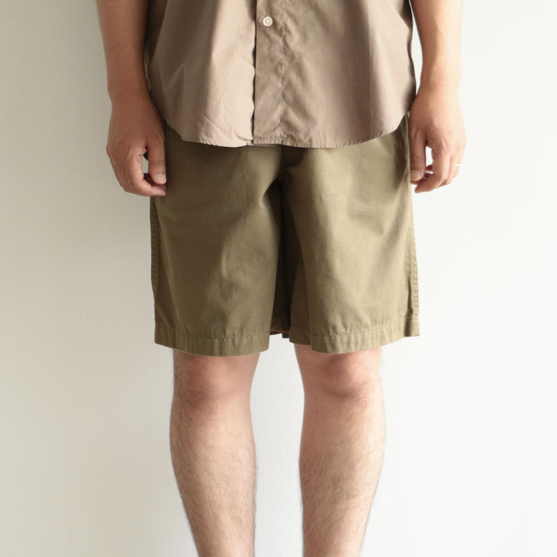 Charpentier de Vaisseau/Tuck Short Pants(men's/brown)