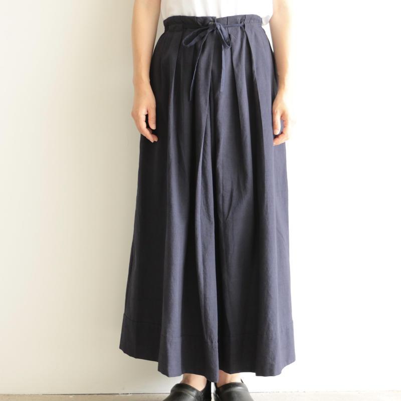 Khadi and Co / long skirt(lady's /DK.INDIGO)