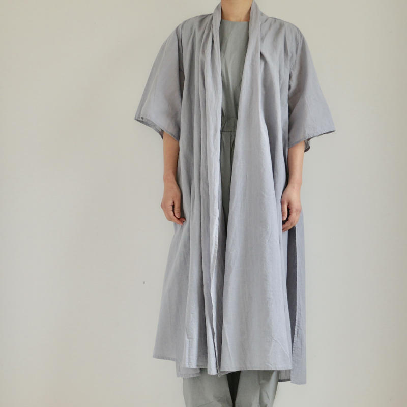 COSMIC WONDER /Khadi cotton short-sleeved haori cardigan(lady's ,men's/AQUA AULA)