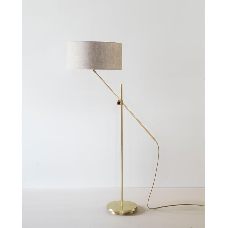 WORKSTEAD | SHADED BRASS FLOOR LAMP