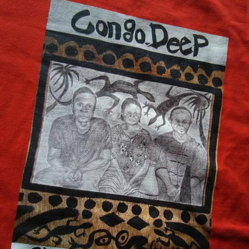 【Congo Deep】365日の1日を。メッセージを運ぶTシャツ【大津司郎のアフリカ目撃】【赤】