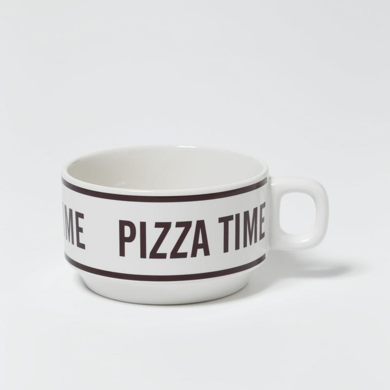 PIZZA TIME Stacking Soup Mug