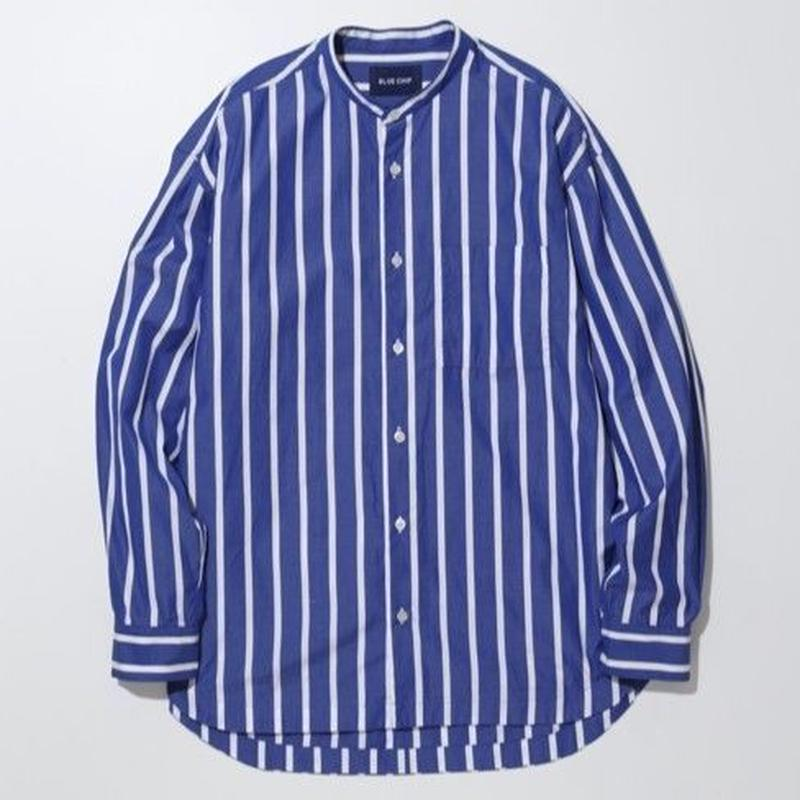 LIAM BAND COLLAR SHIRTS  -SEA-