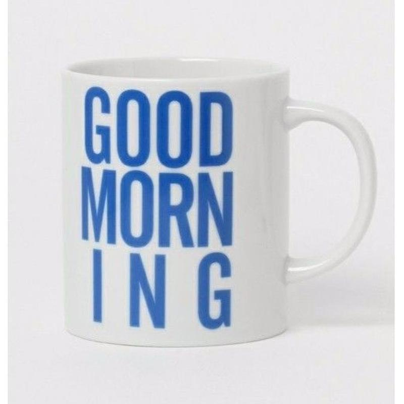 GOOD MORNING COFFEE MUG -BLUE-