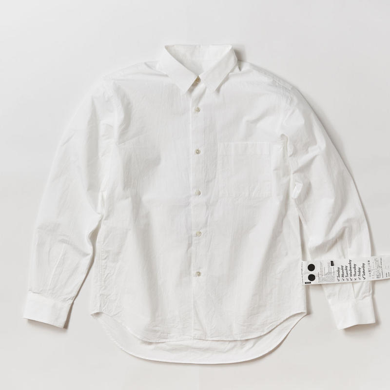 JOHN REGULAR COLLAR SHIRTS -WHITE-