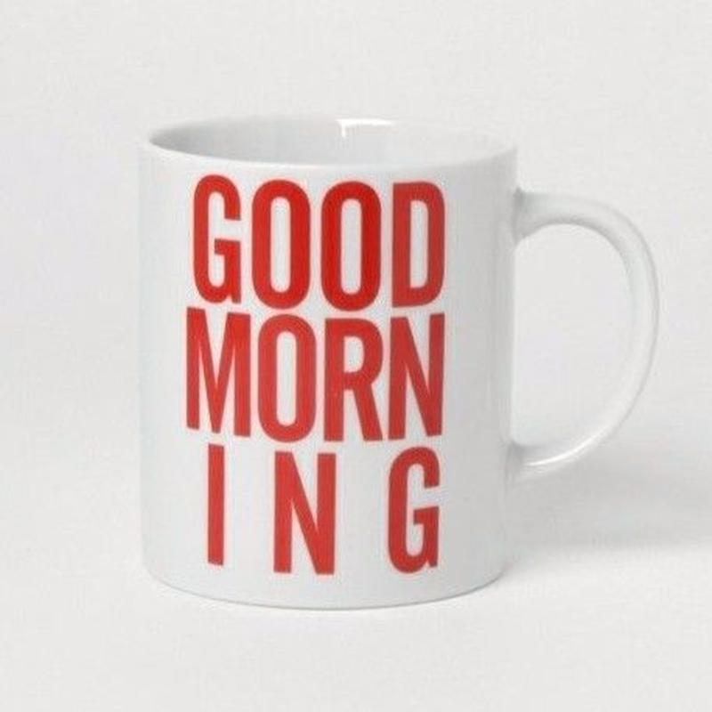 GOOD MORNING COFFEE MUG -RED-