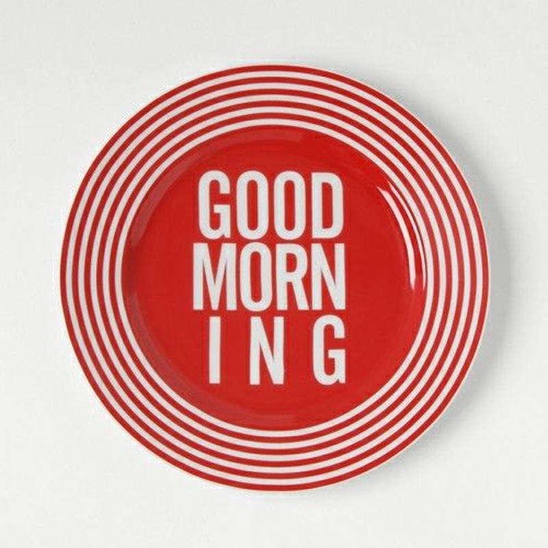 GOOD MORNING DISH PLATE -RED-