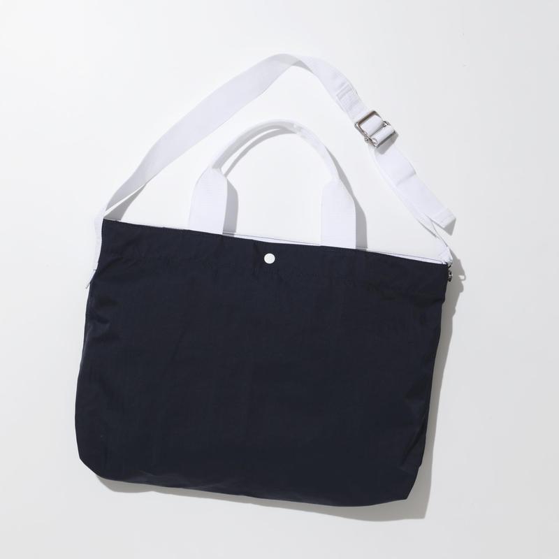 JOHN 2way Shoulder Bag -NAVY-