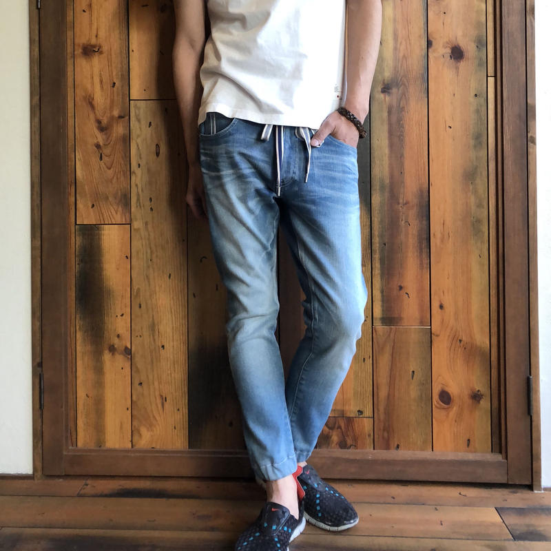 404XXE BONE  JERSEY DENIM JOGGER PANTS / BS-S2-RDP04