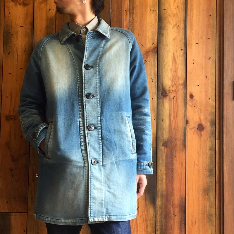 KNIT DENIM SHOP COAT / BS-JK04