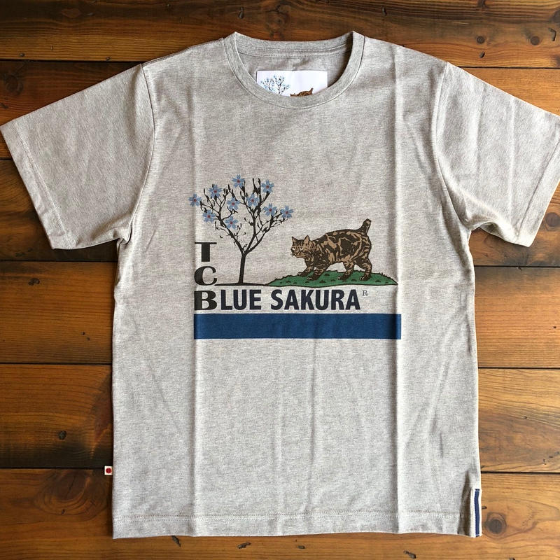 TCB × BLUE SAKURA collaboration T-shirts【GRAY】/ TCB×BS-CS1 / GR