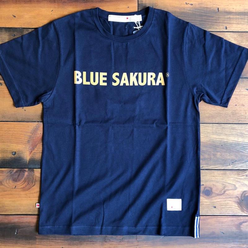 BLUE SAKURA PRINT T-SHIRT 【N-BG】/ BS-CS1-03