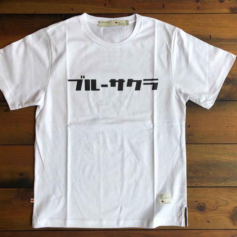 "BASIC T-SHIRT  ""AOSAKURA""【WHITE】/ BS-S3-CS1-02-WH"