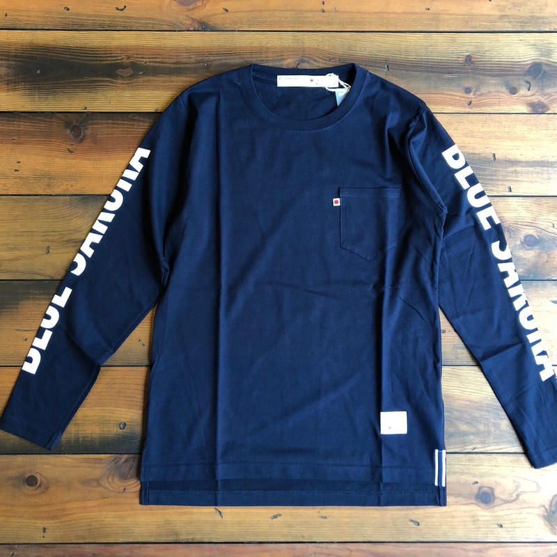 "LONG SLEEVE POCKET T-SHIRT  ""LOGO""【NAVY】/ BS-LCS3-1"