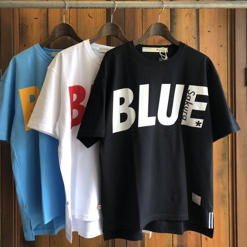 "BIG  T-SHIRT ""BIG BLUE""【BLACK-WHITE】/ BS-BCSP01-BK-WH"