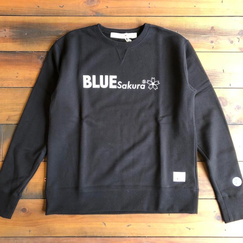 """CLASSIC VINTAGE CREW NECK  """"LOGO C""""【BLACK】  / BS-SWP03-BK"""