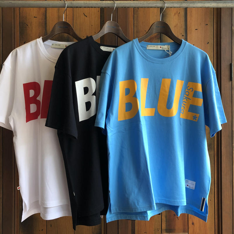 """BIG  T-SHIRT """"BIG BLUE""""【SAX-MUSTARD】/ BS-BCSP01-SAX-MTD"""