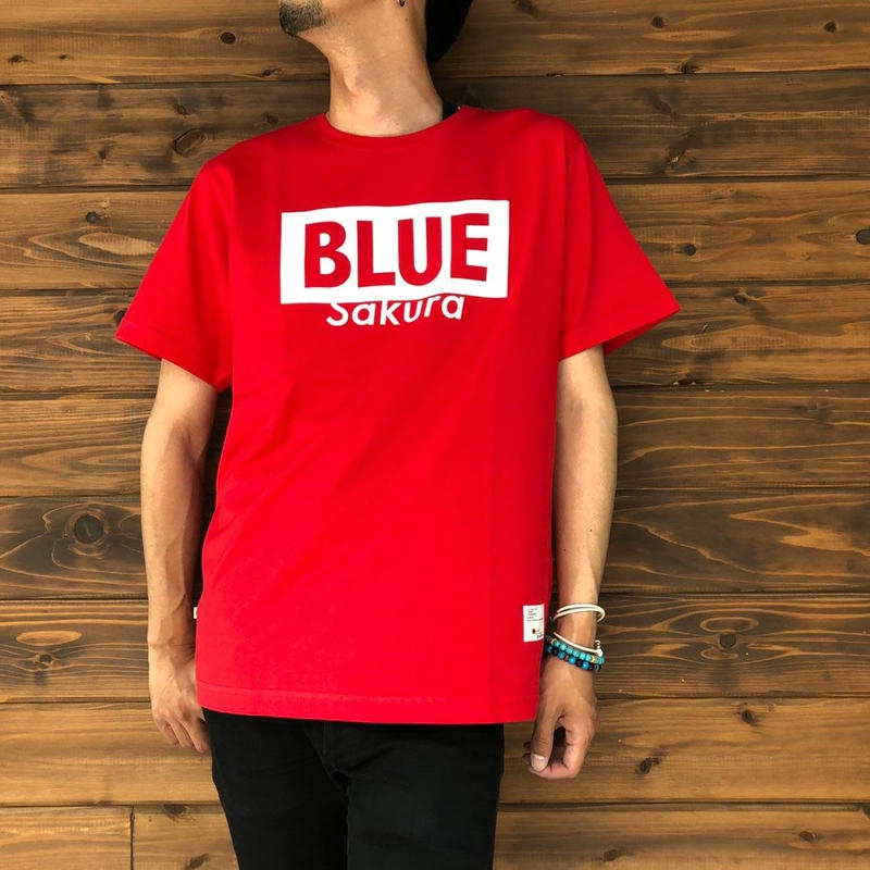 "BASIC T-SHIRT  ""LOGO-B"" 【RED-WHITE】/ BS-S4-CSP02-red-wh"