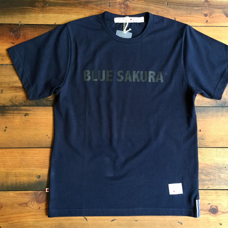 BLUE SAKURA PRINT T-SHIRT 【N-BK】/ BS-CS1-03