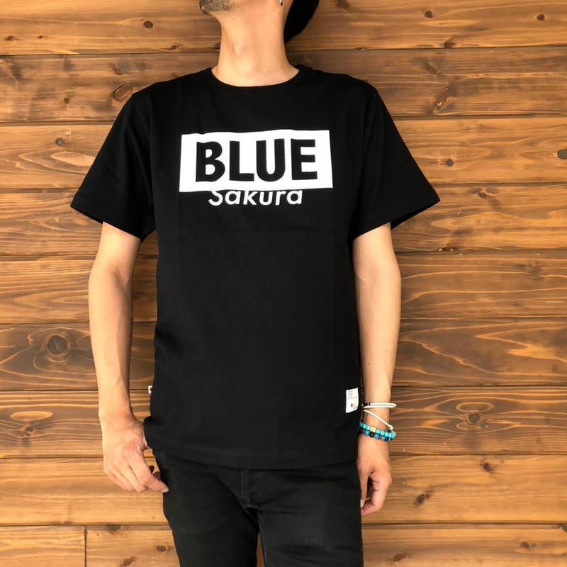 "BASIC T-SHIRT  ""LOGO-B"" 【BLACK-WHITE】/ BS-S4-CSP02-bk-wh"