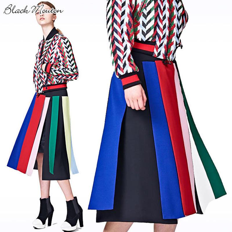 カラーパネルスカート  c/#MULTI   75628-115