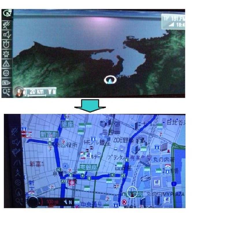 BMW 並行輸入車 CIC NBT 日本語化 ナビ日本地図化