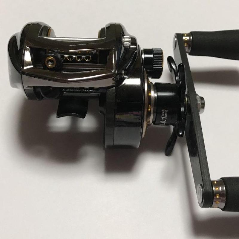 【美品良好】アブガルシア BIGSHOOTER COMPACT DFL100 ハンドル ビッグシューターコンパクト DFL100 ハンドル 左巻き