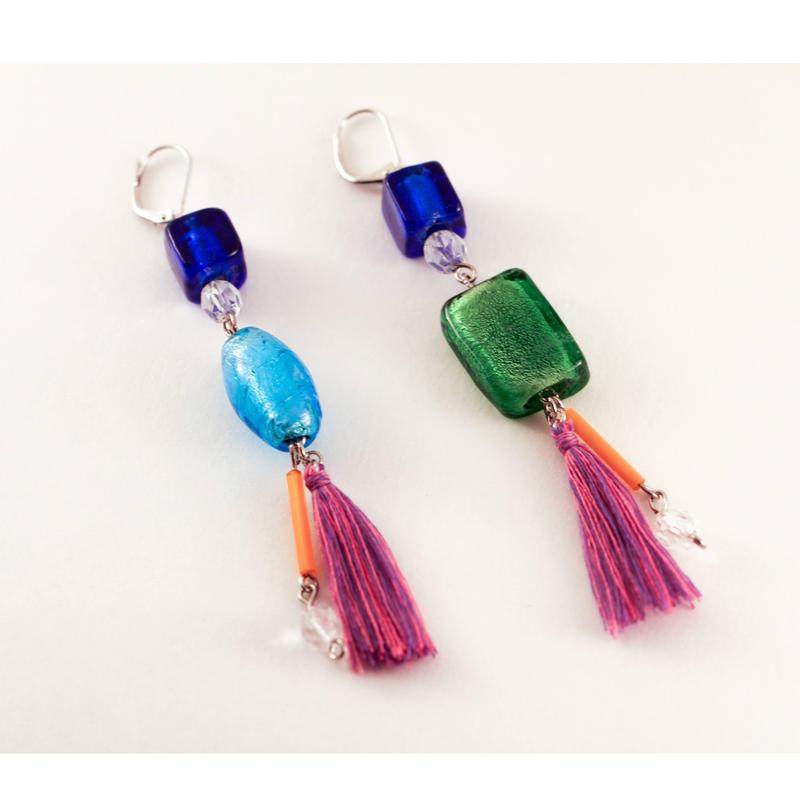 Asymmetry Venetian Glass earring/ベネチアングラスのアシンメトリーピアス