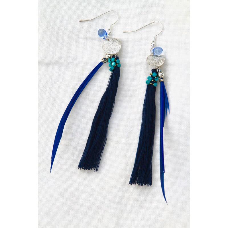 Blue+Silver earrings/ブルー+シルバーのピアス