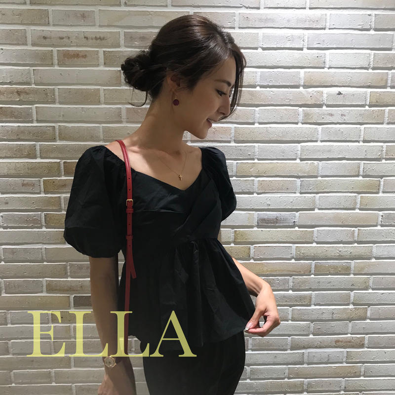 Short sleeved blouse/BLK