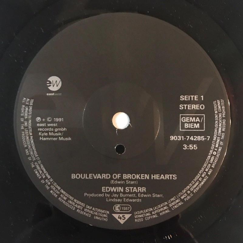 EDWIN STARR:BOULEVARD OF BROKEN HEARTS