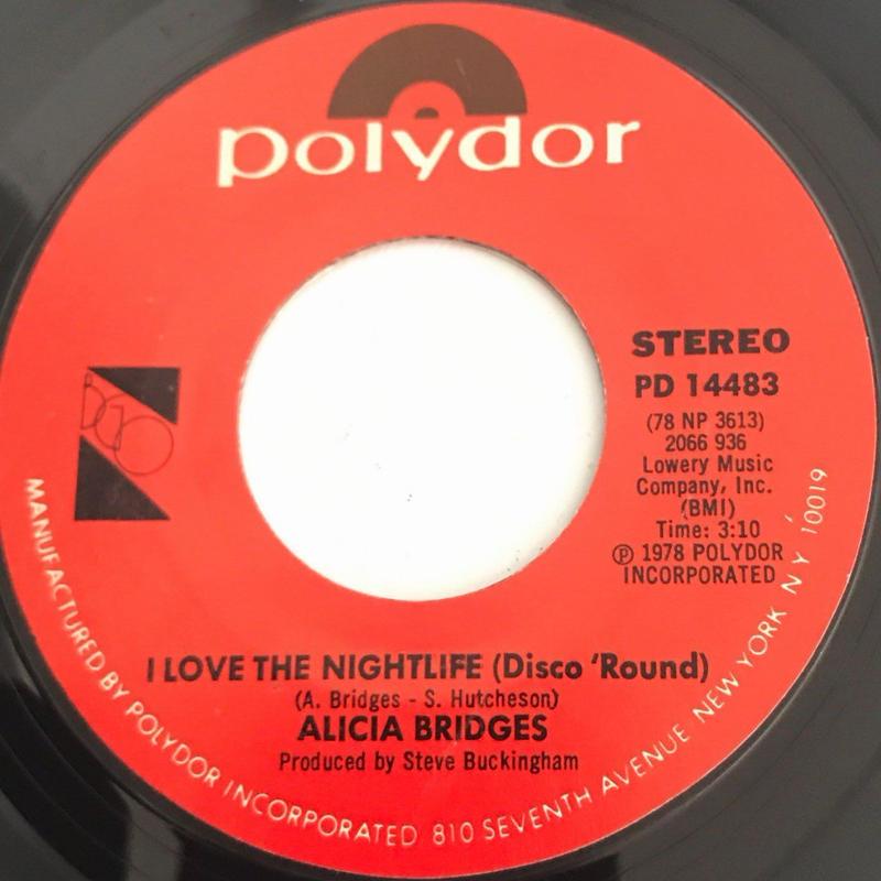 ALICIA BRIDGES:I LOVE THE NIGHTLIFE