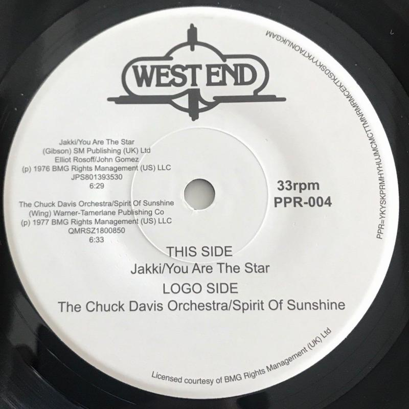 PPR-004 JAKKI/THE CHUCK DAVIS ORCHESTRA