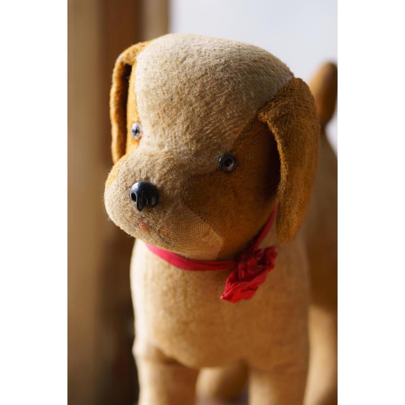 フランスアンティーク・Peluche chien