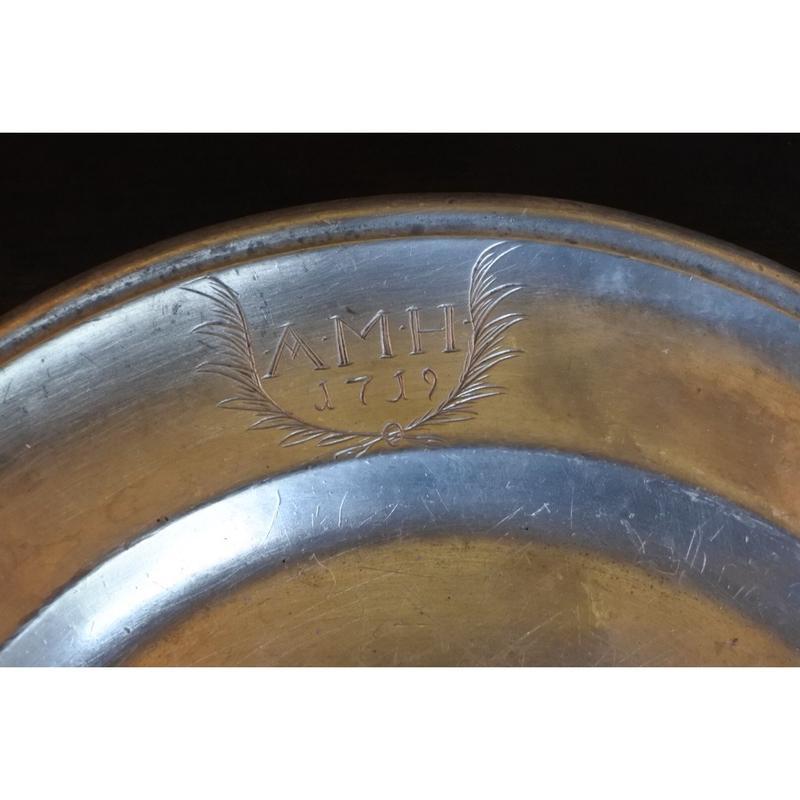ピューターのリム皿 Φ25.5cm