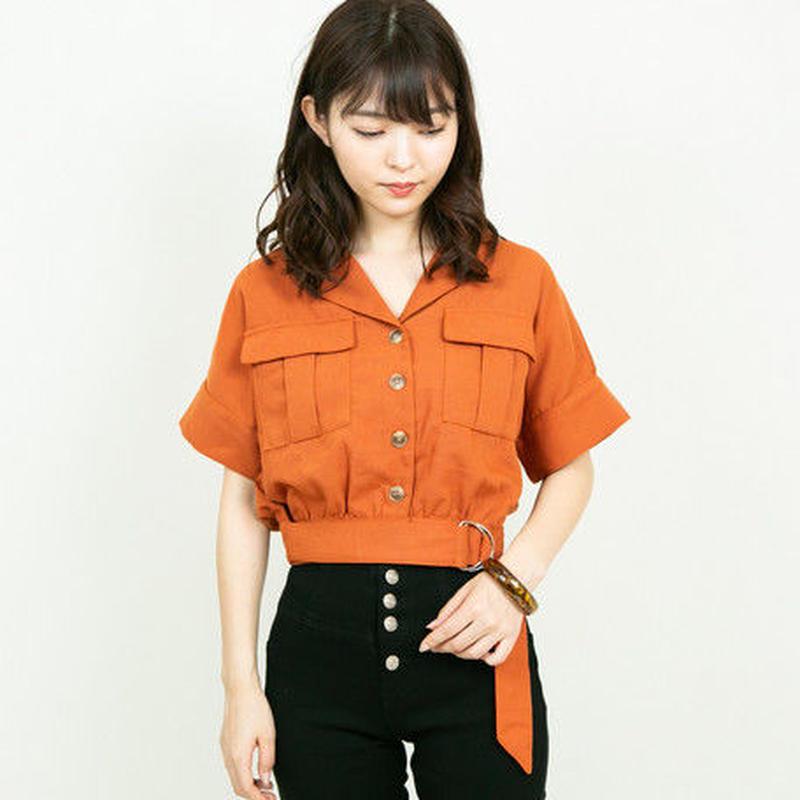 [1796tp]開襟ジャケットタイプシャツ