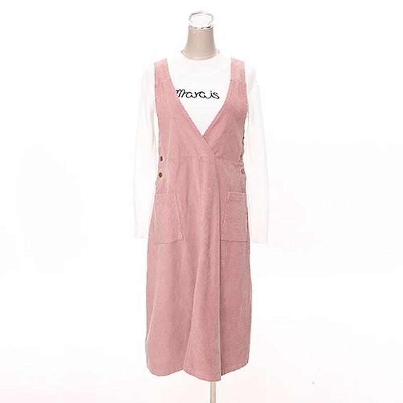 [0587op]コーデュロイジャンパースカート