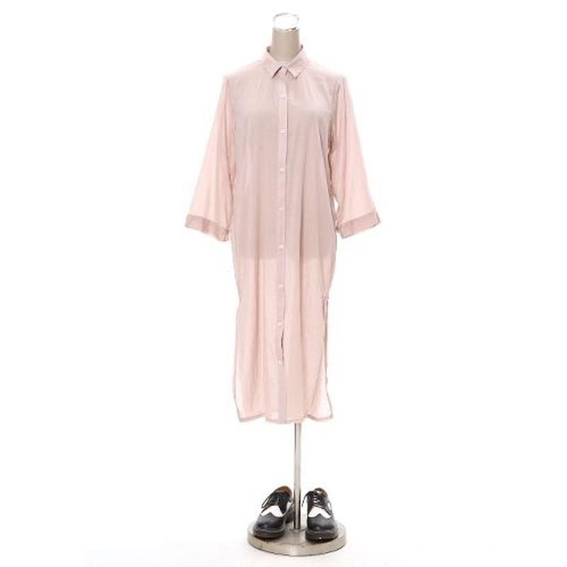 [0498op]スリット入りシャツワンピース