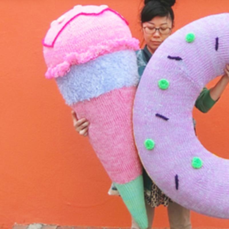 Big  Knit Ice Cream ビッグアイスクリーム  [ CHERRY × CHERRY] NO.2/203gow