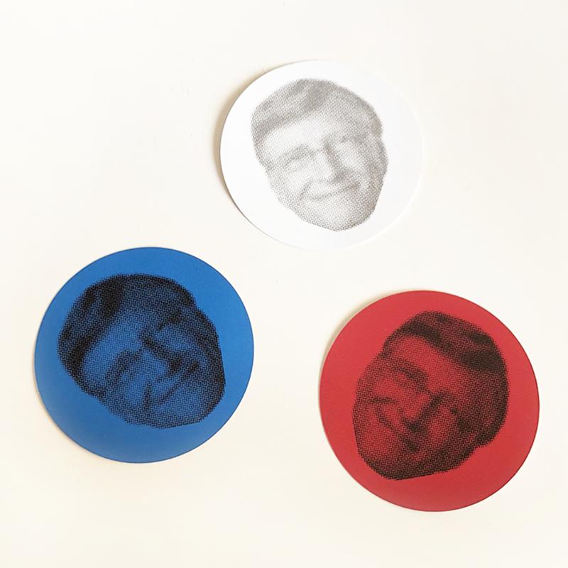赤いビル・ゲイツ、青いビル・ゲイツ、ふつうのビルゲイツ ステッカー3枚セット [ Bill Gates  sticker 3set ]/83