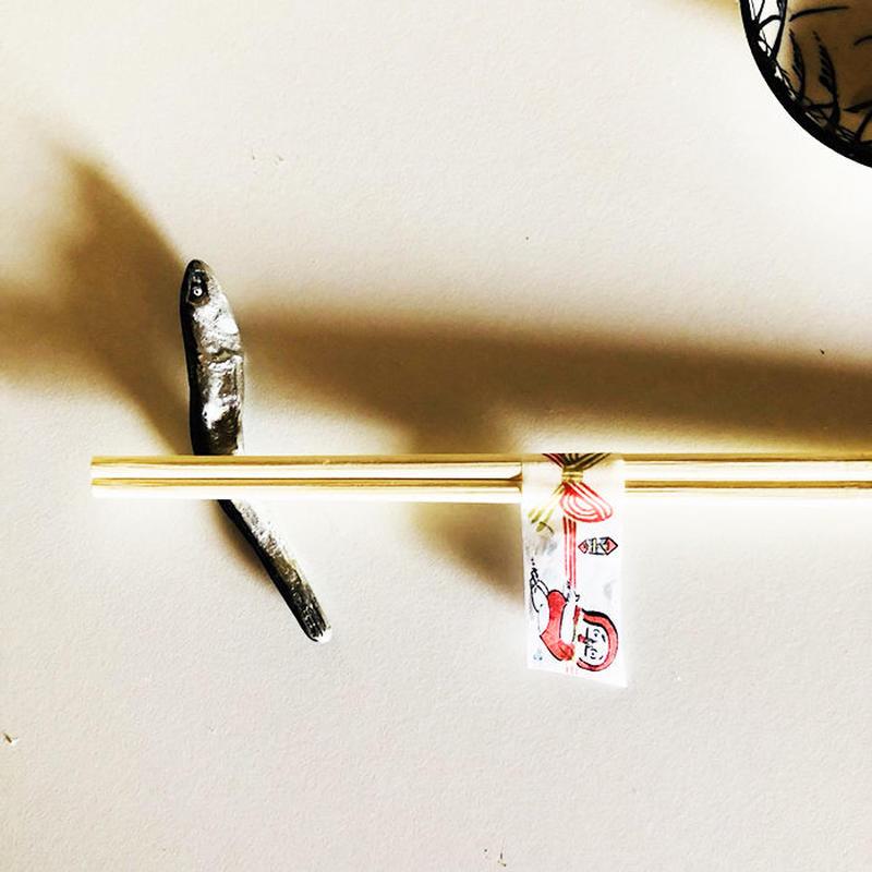 水引き隊  赤 白 マスキングテープ/ いぬんこ