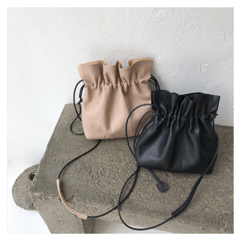 [即納]  巾着shoulder bag  (2clor)